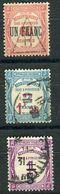 FRANCE ( TAXE ) : S&P N° 63/65  TIMBRES  BIEN  OBLITERES , A VOIR . R 7 - 1859-1955 Usados