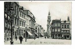 CPA-Carte Postale-Belgique- Mons- Le Théâtre Et Rue De Nimy-1919-VMO14654 - Mons