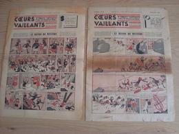LOT DE 2 PERIODIQUES COEURS VAILLANTS N°37 ET N°38 1936 - Vaillant