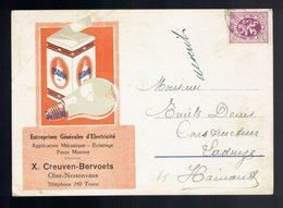 COB 284 / CP Pub Lampes Osram écrite De Olne 23 Mai 1931 => Ladeuze - Belgique