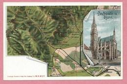 Carte Signée Ottomar WEIJMANN - Illustrateur Alsacien - Carte Géographique - 68 - THANN - Carte N° 1 Sur 10 - Alsace