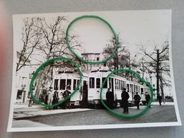 Photo Originale Ligne Waterloo  Hal  Gros Plan Tram Avec Conducteur Receveur - Postcards