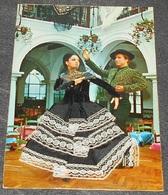 Carte Robe En Tissu : Danse - Espagne - Couple - Homme - Femme - Costumes - Traditions ------------- 526 - Cartes Postales