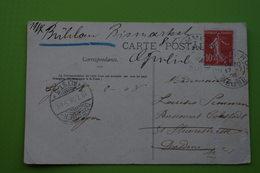 4-932 CPA Commercy Pont Poirisse France 10c Semeuse 1908 Dresden Dresde Allemagne - Bruggen
