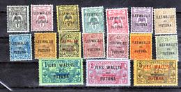 Wallis Et Futuna   1/17 7 Et 9 Non Compté 1NSG 1 Dent Courte Neuf  Avec Charnière Ou Trace De * MH Con Charmela - Neufs