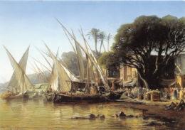 VINCENT COURDOUAN Le Canal De Mahamoudieh Huile Sur Toile 1874 22(scan Recto-verso) MA1373 - Peintures & Tableaux