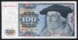 100 Deutsche Mark 2-1-1970 / Bundesbanknote NE - See The 2 Scans For Condition.(Originalscan ) - 100 Deutsche Mark