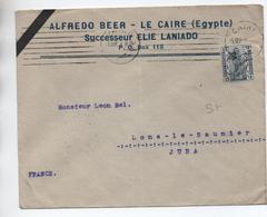 EGYPTE / EGYPT - 1923 - ENVELOPPE COMMERCIALE Du CAIRE / CAIRO Pour LONS LE SAUNIER (JURA) - Égypte