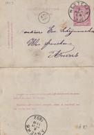 DDW777 - Entier Carte-Lettre Type TP 46 WETTEREN 1892 Vers ANVERS - Signé François De Lamarche , Schilder - Cartas-Letras