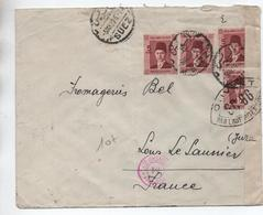EGYPTE / EGYPT - 1939 - ENVELOPPE De SUEZ Pour LONS LE SAUNIER (JURA) Avec CENSURE - Egypt