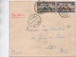 EGYPTE / EGYPT - 1937 - ENVELOPPE PAR AVION De HELWAN LES BAINS - Égypte