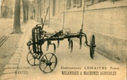 NANTES, 109, Rue Des Hauts Pavés - Etablissements LEMAITRE Frères MECANIQUE & MACHINES AGRICOLES - Cultures