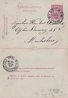 DDW779 - Entier Carte-Lettre Type TP 46 WYNEGHEM 1890 Vers MECHELEN - Signé Gezusters Joris - Cartas-Letras