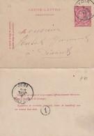 DDW780 - Entier Carte-Lettre Type TP 46 YVOIR 1890 Vers DINANT - Signé Gezusters Joris - Cartas-Letras