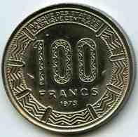 Gabon 100 Francs 1975 KM 13 - Gabón