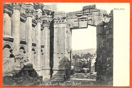 CPA AK LIBAN Lebanon - BAALBEK - Intérieur Du Petit Temple Avec La Porte ° Hermann Seibt - Libanon