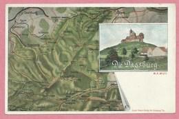 Carte Signée Ottomar WEIJMANN - Illustrateur Alsacien - Carte Géographique - 57 - DAGSBURG - Carte N° 10 Sur 10 - Alsace
