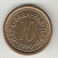 Yugoslavia  10 Para  1990  KM 139       Xf+ - Yugoslavia