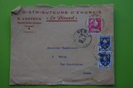 4-938 Agriculture Engrais Le Picard Nesle 1956 Homme Politique Jacques Bugnicourt Warsy Montdidier - Agriculture