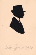SILHOUETTE D' HOMME - COUPÉE À LA MINUTE ( ? ) : BERLIN / JANUAR 1914 - RRR !!! (ae336) - Silhouettes