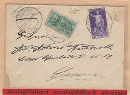 REGNO 340 - Lettera Espresso, Viagg. Nel 1938 Da Roma A Cesena - Storia Postale
