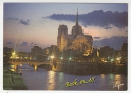 {59940} 75 Paris Effets De Lumière Sur Notre Dame Et La Seine - Notre Dame De Paris