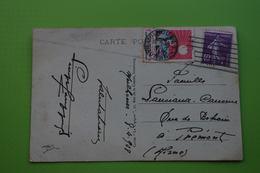 4-939 Flamme Mulhouse à Déterminer 1928 Vignette Tuberculose Oblitéré Semeuse 40c Piquage à Cheval Prémont - Agriculture