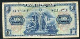 10 Deutsche Mark / Bank Deutscher Länder 22-8-1949- See The 2 Scans For Condition.(Originalscan ) - [ 7] 1949-… : RFD - Rep. Fed. Duitsland