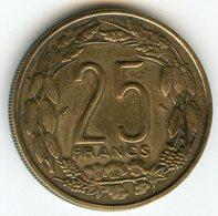 Cameroun Cameroon Equatorial 25 Francs 1962 KM 12 - Cameroun