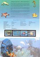 MALAYSIA  2001 FAUNE MARINE  NEUF   N°  909 / 12 ENCART + ENV.  COTE   EURO - Malaysia (1964-...)