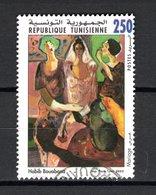 TUNISIE  N° 1474    OBLITERE COTE  0.40€     PEINTRE  TABLEAUX - Tunisie (1956-...)