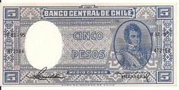CHILI  5 PESOS ND1958-59 UNC P 119 - Chile