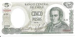CHILI 5 PESOS 1975 UNC P 149 A - Chile