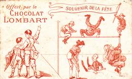 Ancienne Enveloppe Publicité Chocolat Lombard Souvenir De La Fête - Publicités