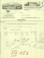 """HEUBACH Württemberg Rechnung 1934 Deko """" Spiesshofer&Braun GmbH - Triumph Frottierweberei """" - Textilos & Vestidos"""