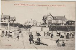CPA   50  SAINT PAIR SUR MER  LA DESCENTE DE LA PLAGE ET LE CASINO - Saint Pair Sur Mer