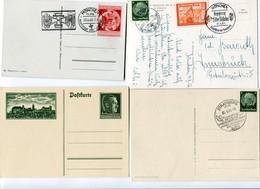 !!! SECONDE GUERRE MONDIALE, 4 CARTES DE PROPAGANDE NAZIE - Marcophilie (Lettres)
