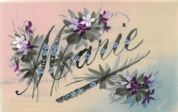 CPA Fantaisie - Carte Celluloïd - Prénom MARIE - Prénoms