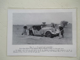 Voiture Hotchkiss - Rallye Raid -Paris Alger Bidon Gao Abidjan Mamou Dalab Conakry - Coupure De Presse D 'époque De 1937 - Documents Historiques