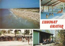 33 Grayan L' Hopital Centre Naturiste Euronat Naturisme Piscine Boutiques Femme Nue Homme Nu Carte 4 Vues - Francia