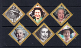 2012 St. Lucia QEII Reign JOINT ISSUE Complete Set Of 6 MNH - St.Lucia (1979-...)