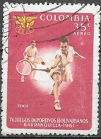 1961 35c Games, Tennis, Used - Colombia