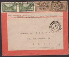 SUPERBE Enveloppe Par Avion « Lignes LATECOERES » Rouge Affrt à 4 Timbres De CASABLANCA Pour ORAN 1926. - Maroc (1891-1956)