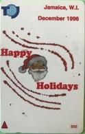 JAMAÏQUE  -  Phonecard  - Happy Holidays  -  $ 50 - Jamaica