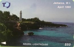 JAMAÏQUE  -  Phonecard  - Negril Lighthouse  -  $ 50 - Jamaica