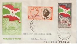 Burundi FDC 1963 Anniversaire Indépendance 55 Et 57 - 1962-69: Oblitérés