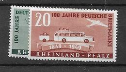 1949 MH Rheinland-Pfalz Mi 49-50 - Zone Française