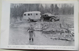 """USA - Attelage Caravane Camping Pêche  """"Les Joies Du Trailer""""  Coupure De Presse D 'époque De 1937 - Camping"""