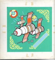 Mongolia 1973 Space Soyuz-Apollo Soyuz-6,7,8 Hand-painted Artwork - Mongolia