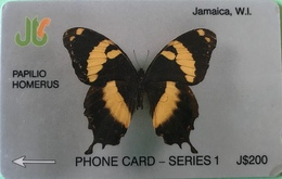 JAMAÏQUE  -  Phonecard  - Papilio Homerus  - J $ 200 - Jamaica